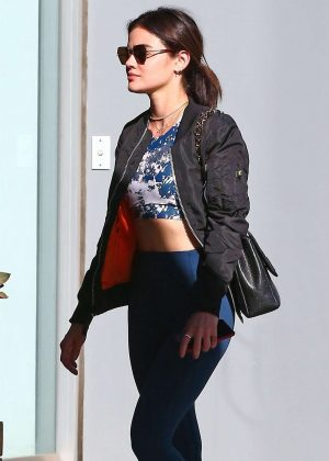 Lucy Hale - Heading at a SoulCycle in Los Angeles
