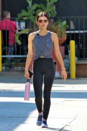 Lucy Hale - Heads to workout session in Studio City