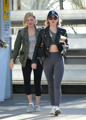 Lucy Hale - Hits the gym in Los Angeles