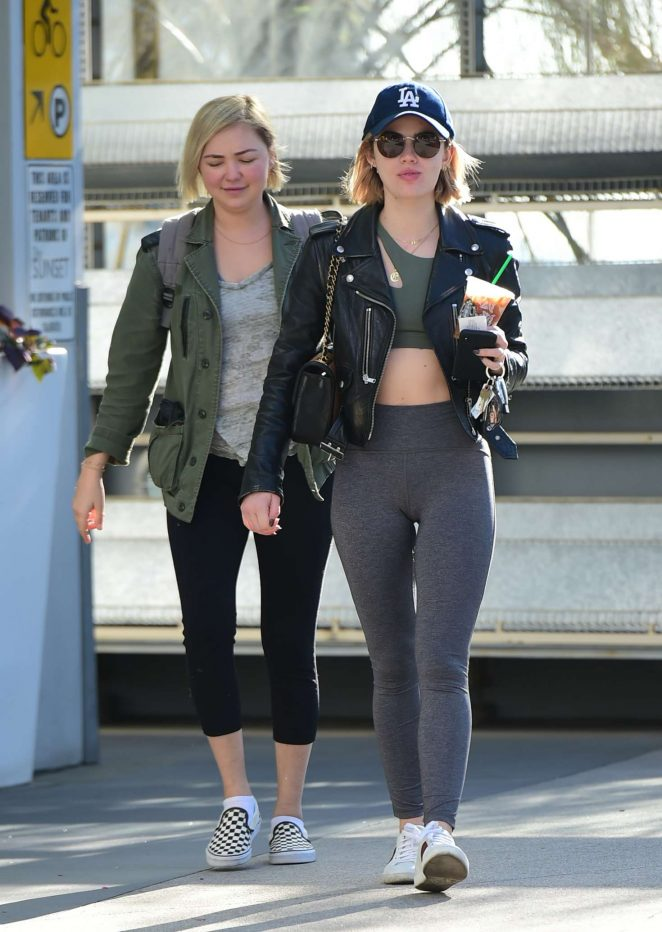 Lucy Hale – Hits the gym in Los Angeles