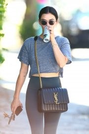 Lucy Hale in her workout gear out in Studio City