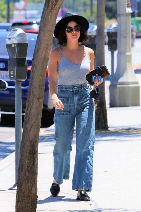 Lucy Hale - In jeans out for coffee in Los Angeles