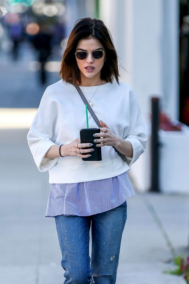 Lucy Hale in Jeans out in Beverly Hills