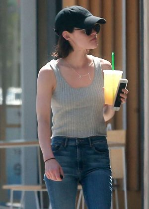 Lucy Hale in Jeans out in Studio City
