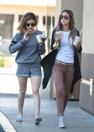 Lucy Hale in Shorts -01