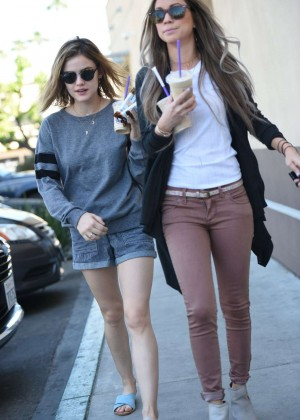 Lucy Hale in Shorts -02