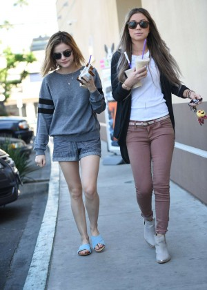 Lucy Hale in Shorts -03