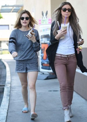 Lucy Hale in Shorts -06