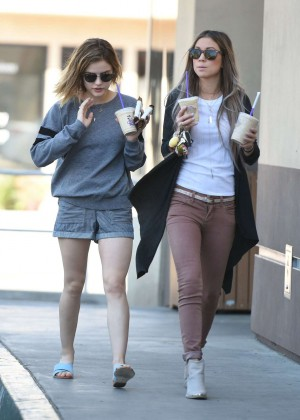 Lucy Hale in Shorts -07
