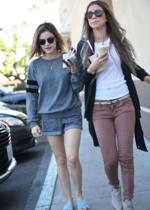 Lucy Hale in Shorts -08