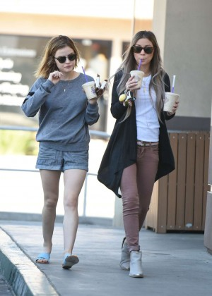 Lucy Hale in Shorts -09