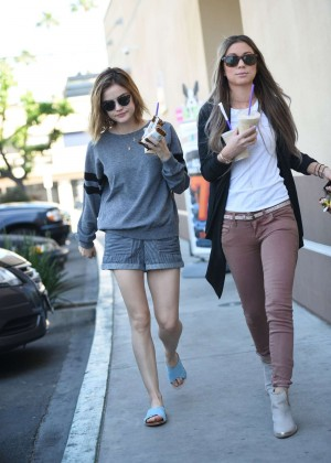 Lucy Hale in Shorts -10
