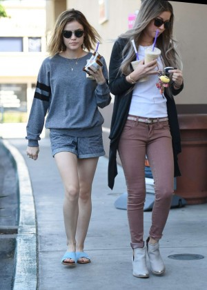 Lucy Hale in Shorts -12