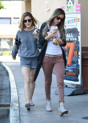 Lucy Hale in Shorts -14