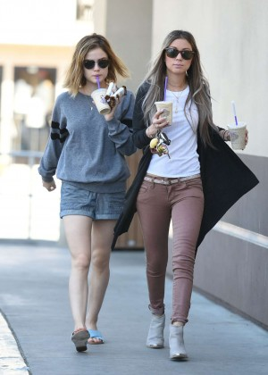Lucy Hale in Shorts -15