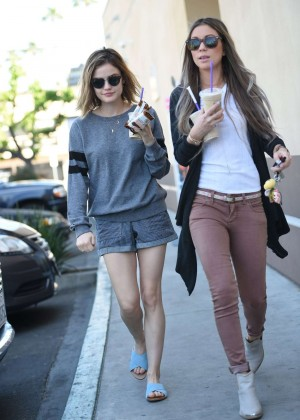 Lucy Hale in Shorts -16