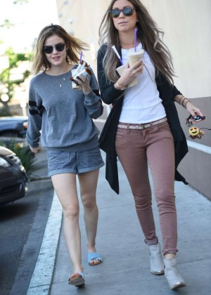 Lucy Hale in Shorts -17