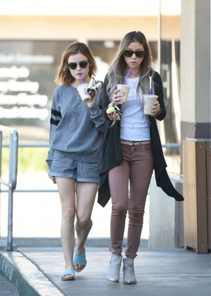 Lucy Hale in Shorts -18