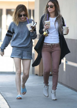 Lucy Hale in Shorts -19