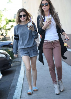 Lucy Hale in Shorts -20