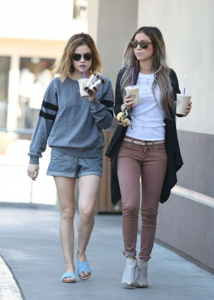 Lucy Hale in Shorts -21