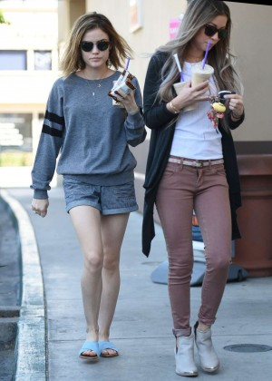 Lucy Hale in Shorts -25