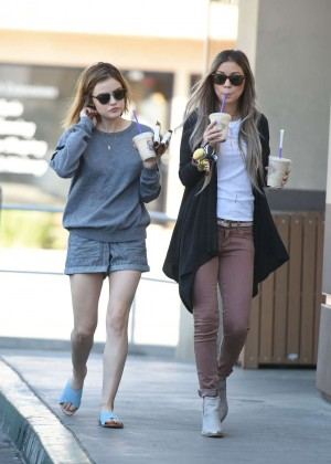 Lucy Hale in Shorts -27