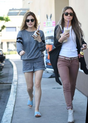 Lucy Hale in Shorts -30