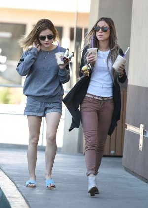 Lucy Hale in Shorts -31