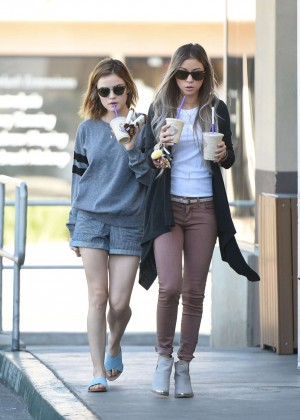 Lucy Hale in Shorts -33