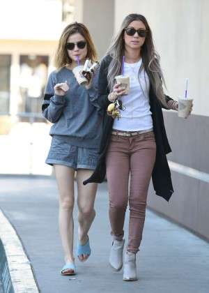 Lucy Hale in Shorts -34