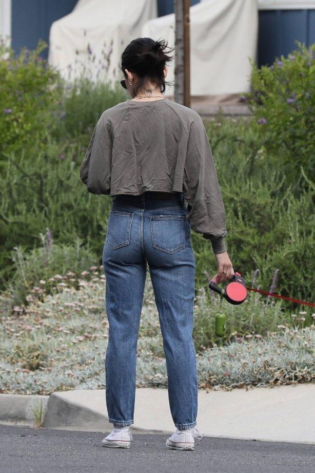 Lucy Hale in Jeans - Walking Elvis in Los Angeles