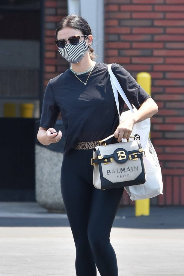 Lucy Hale - In workout clothes in Studio City - California