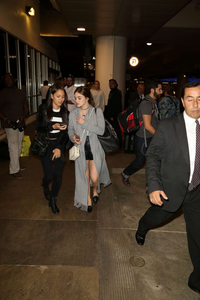Lucy Hale: LAX Airport in Los Angeles -08
