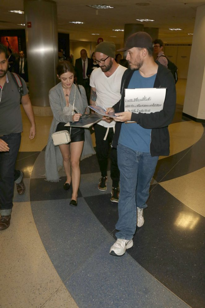 Lucy Hale: LAX Airport in Los Angeles -11