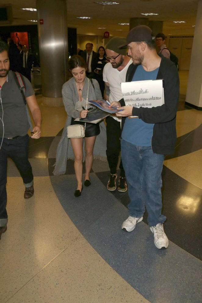 Lucy Hale: LAX Airport in Los Angeles -13