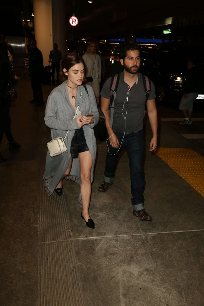 Lucy Hale: LAX Airport in Los Angeles -15