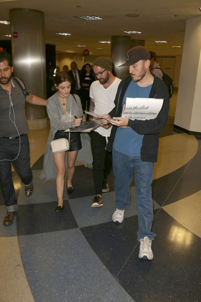 Lucy Hale: LAX Airport in Los Angeles -16