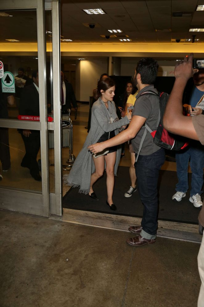 Lucy Hale: LAX Airport in Los Angeles -25