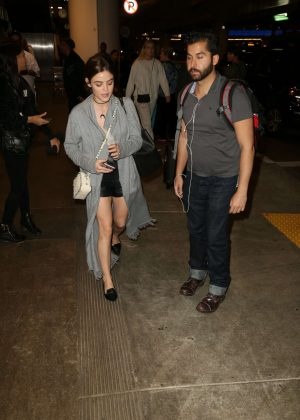 Lucy Hale - LAX Airport in Los Angeles