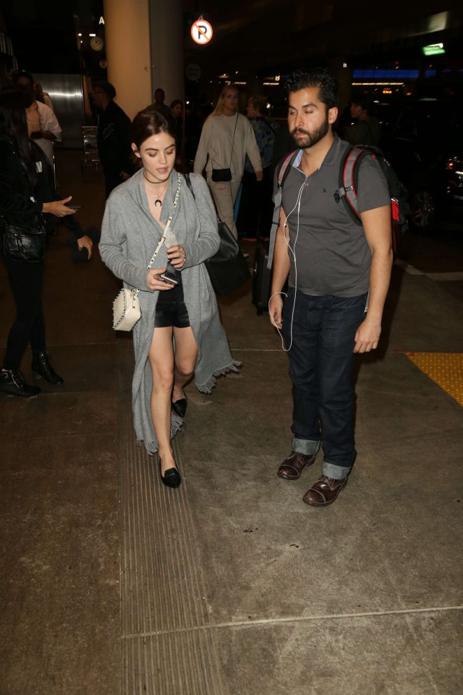 Lucy Hale – LAX Airport in Los Angeles