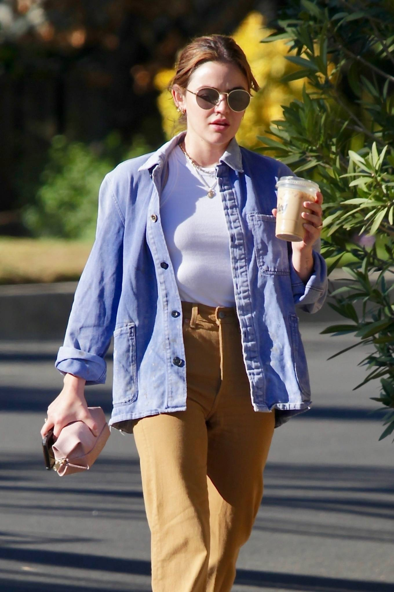 Lucy Hale - Leaves a friend's house in Studio City