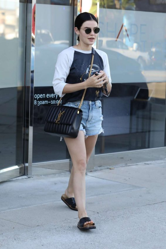 Lucy Hale 2019 : Lucy Hale – Leaves a spa in Los Angeles-05