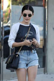 Lucy Hale - Leaves a spa in Los Angeles