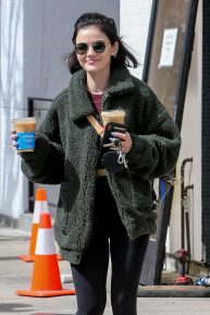 Lucy Hale - Leaves Alfred Coffee in Studio City