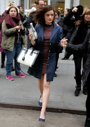 Lucy Hale - Leaves Buzzfeed in New York City