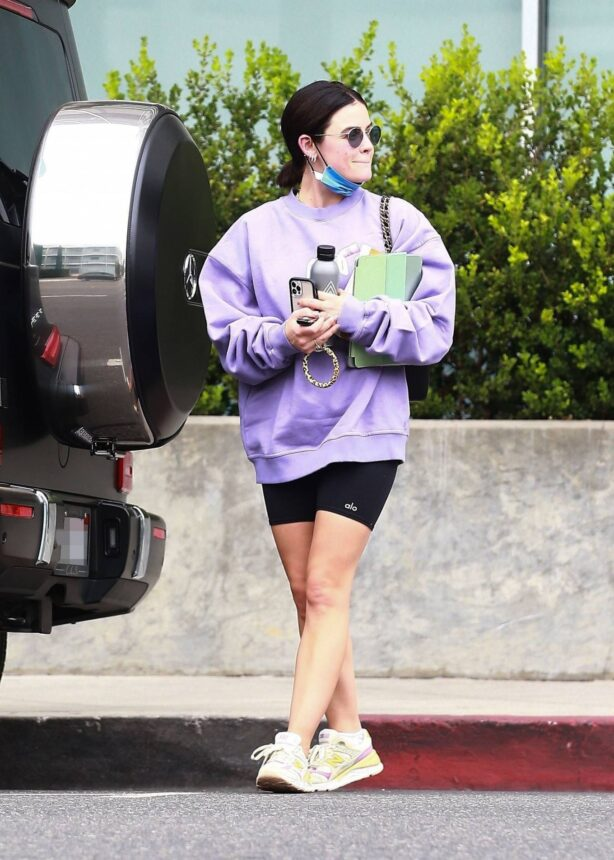 Lucy Hale - leaves the gym after a workout in West Hollywood