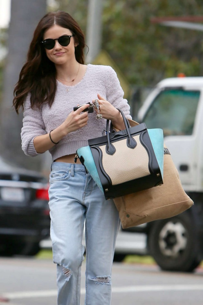 Lucy Hale – Leaving a gym in LA