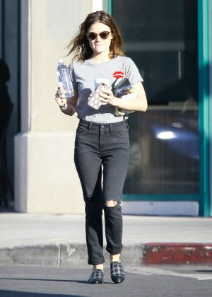 Lucy Hale - Leaving a Wellness Center in Los Angeles
