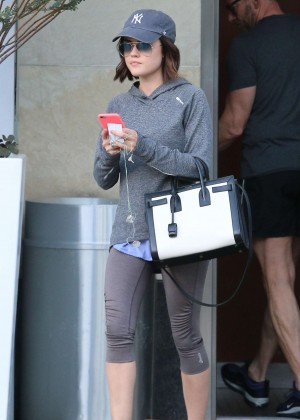 Lucy Hale - Leaving Equinox Gym in West Hollywood